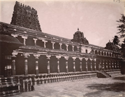 Colonnade of the second prakara of the Shiva Temple, Tiruvadi